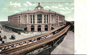 Massachusetts Boston South Union Station Dewey Square