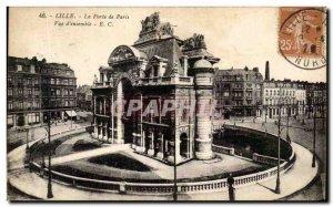 Old Postcard Lille Gate View of Paris & # 39ensemble