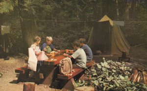 VANCOUVER, British Columbia, Canada, 1950-1960's; Family Camping