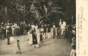 CPA Dahomey Afrique - Une Noce du High-Life (86849)