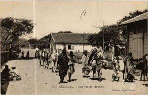 CPA AK Fortier 467, Une rue de Meckhé, SENEGAL (761967)