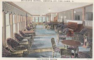 GENEVA-IN-THE-LAKE , Ohio , 1910s ; Buckeye Hotel , Lounging Room