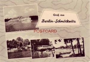 CONTINENTAL-SIZE GERMANY. GRUSS AUS BERLIN - SCHMOCKWITZ - four views