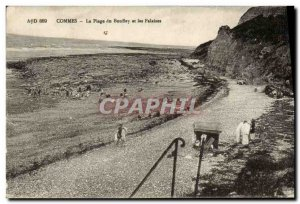 Old Postcard Commes The Bouffey Beach and Cliffs