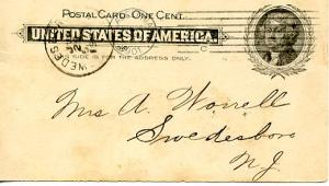 U. S. Postal Card   (Jefferson 1 cent) Publisher's Advertising League