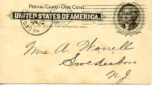 U. S. Postal Card   (Jefferson 1 cent) Publisher's Advertising League