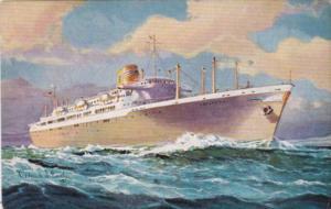 Panama Line Twin Screw Steamships Panama Ancon Cristobal