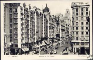 spain, MADRID, Avenida de Pi y Margall (1940s) RPPC