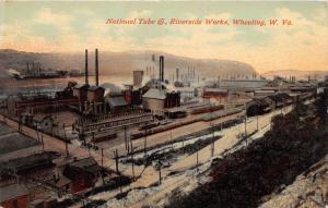 E65/ Wheeling West Virginia Postcard 1910 National Tube Riverside Factory