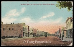 Looking East on Payntz Ave, Manhattan, Kan