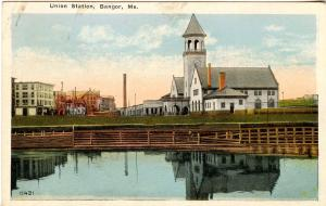 ME - Bangor. Union Railroad Station, Depot