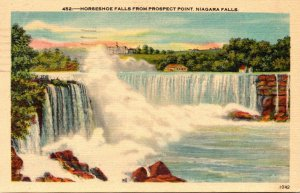 New York Niagara Falls Horseshoe Falls From Prospect Point 1948