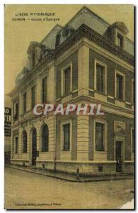 Old Postcard Bank Caisse d & # 39Epargne Voiron (TOILEE map)