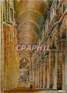 Modern Postcard Cluny (S & L) France Great Nave of the Abbey of St Hugh (1088...