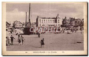 Old Postcard-BERCK BEACH - BEACH Boat