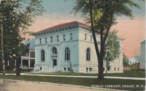 Public Library, Olean, N.Y., early postcard, used in 1912