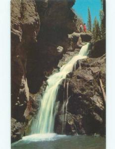Unused Pre-1980 WATERFALL SCENE Santa Fe New Mexico NM E4197