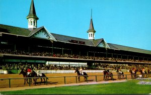 Kentucky Louisville Churchill Downs Thoroughbreds Parading To Starting Post