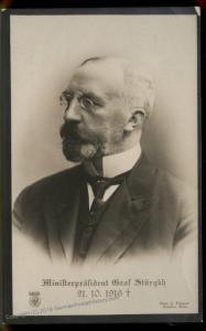 Austria WWI Ministerpraesident Graf Stuergkh Portrait RPPC 91437