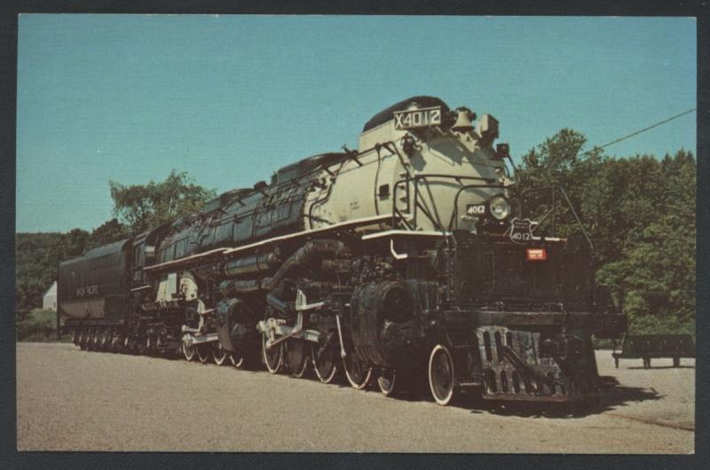 Union Pacific 4012 BIG BOY Railroad Largest Steam Locomotive