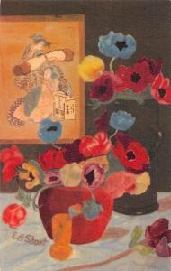 Poppy Flowers, E.A. Short Signed Floresque Postcard