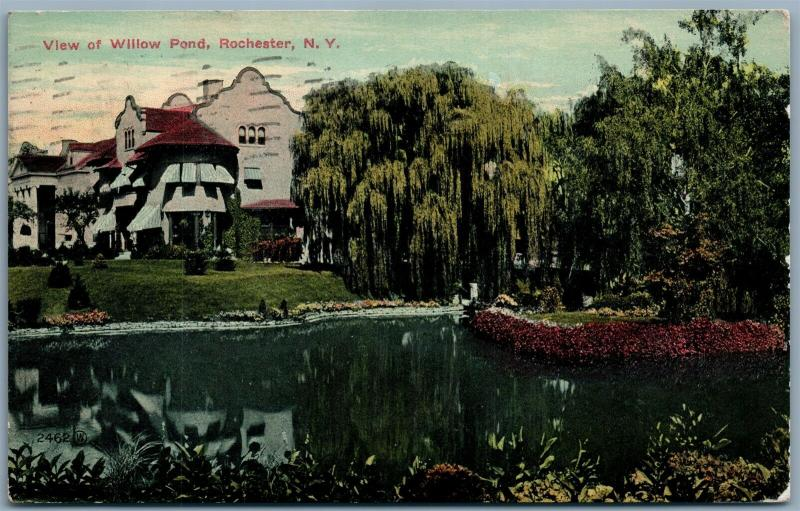 ROCHESTER NY WILLOW POND 1911 ANTIQUE POSTCARD