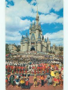Unused Pre1980 MICKEY & MINNIE MOUSE & OTHERS AT DISNEYWORLD Orlando FL p2742@