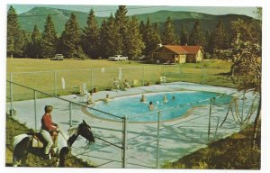 SEEBE, Alberta, Canada, 1950-60s ; Rafter Six Guest Ranch, Swimming Pool