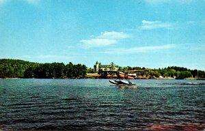 Maine Seaplane Leaving Naples On Sebago Lake