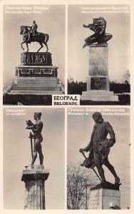 Belgrade Serbia Monuments Multiview Real Photo Antique Postcard J77870