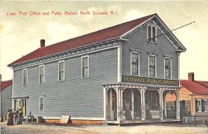 North Scituate RI Post Office Public Market Store Postcard