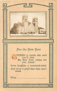 F35/ Parkersburg Iowa RPPC Postcard 1912 Church Building