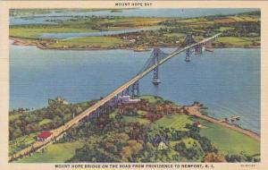 Rhode Island Newport Mount Hope Bay Mount Hope Bridge On The Road From Provid...