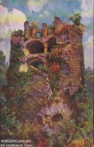 Germany Heidelberg Schloss Der Gesprengte Turm