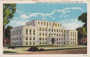 Arkansas Fort Smith Sebastian County Court House & City Hall Curteich