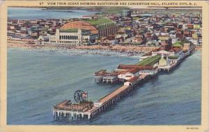 View From Ocean Showing Auditorium And Convention Hall Atlantic City New Jers...