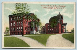 Postcard NC Hickory Lenoir College Science Hall & Main Building 1916 View AB3