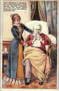 Lot of 6 Quack Medicine Victorian Trade Cards P121