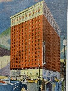 VTG Old Linen Era Postcard Kentucky Hotel, A Dinkler Hotel Louisville, KY