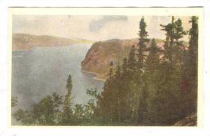 Picture, Pine clad cliffs, Saguenay River, Quebec, Canada, 10-20s