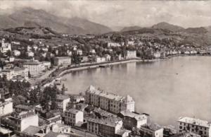Switzerland Lugano e Paradiso Totalansicht 1953 Photo