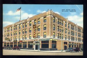 Billings, Montana/MT Postcard, New Grand Hotel, Old Cars, 1942!