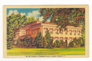 The Old Academy of Richmond County, Augusta, Georgia, 1930-40s