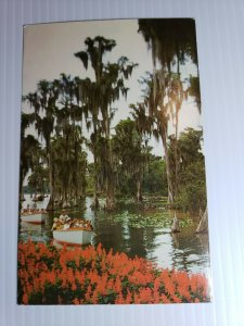 Vintage Postcard Florida Cypress Gardens Sightseeing Boats 1970 posted   479