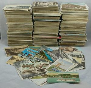 Old Vintage Postcards Collection UK & Foreign Topo B/W Colour Job Lot Mixed Eras