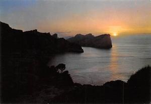 Spain Formentor MAllorca Sunset seen from the lighthouse, phare, faro