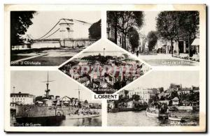 Lorient Postcard Old Port St Christophe War Course of Bove Debarcadere