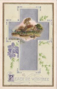 Easter Silver Cross & Landscape Scene