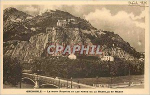Old Postcard Grenoble Isere The generle View and the Alps