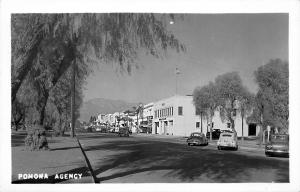 Ontario CA Downtown Storefronts Fire Department Old Cars Real Photo Postcard
